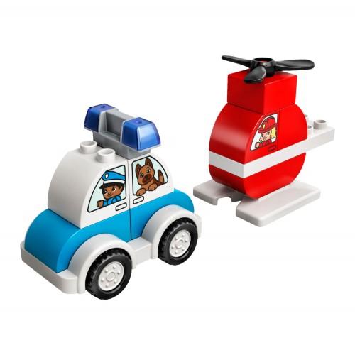 10957 Vatrogasni helikopter i policijski automobil