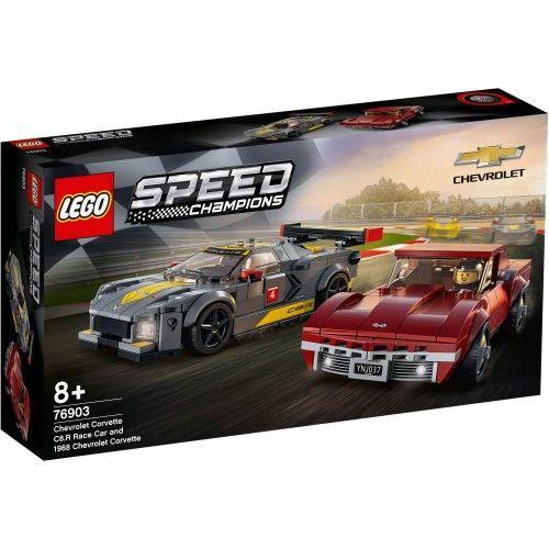 76903 Chevrolet Corvette C8.R Race Car and 1968 Chevrolet Corvette
